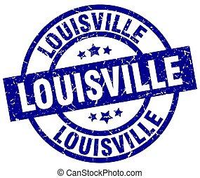 Louisville blue round grunge stamp