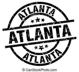 Atlanta black round grunge stamp