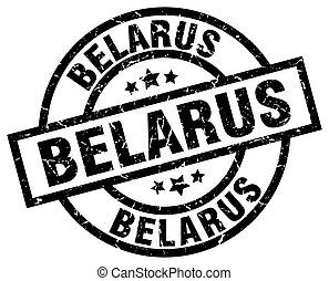 Belarus black round grunge stamp