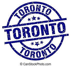 Toronto blue round grunge stamp