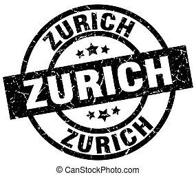 Zurich black round grunge stamp