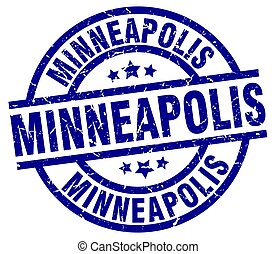 Minneapolis blue round grunge stamp