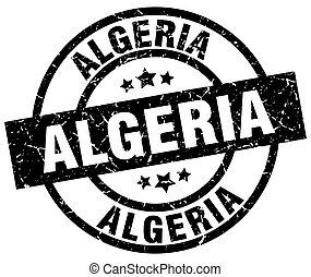 Algeria black round grunge stamp