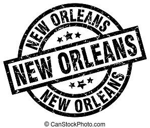 New Orleans black round grunge stamp