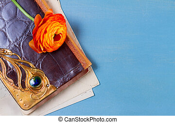 Notebook with flower