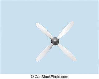 Aircraft propeller 4 blade