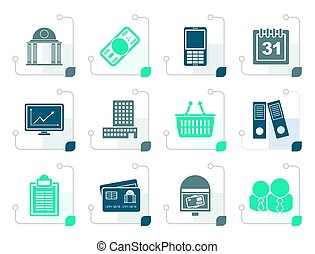 Stylized Business and finance icons