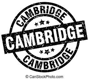Cambridge black round grunge stamp