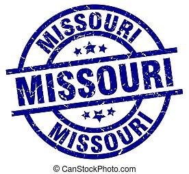 Missouri blue round grunge stamp