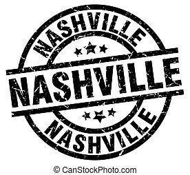 Nashville black round grunge stamp