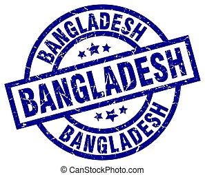 Błękitny, tłoczyć,  Grunge, Bangladesz, Okrągły