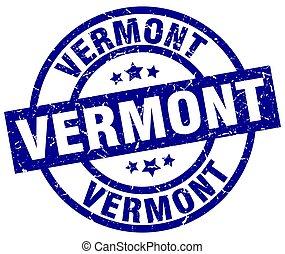 Vermont blue round grunge stamp