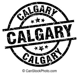Calgary black round grunge stamp