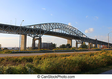 Bridge in Hamilton - Hamilton, Ontario, Canada highway...