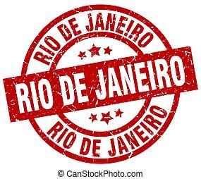 Rio De Janeiro red round grunge stamp