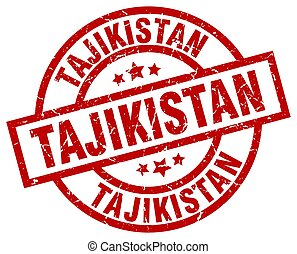 Tajikistan red round grunge stamp