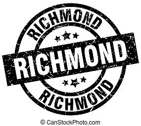 Richmond black round grunge stamp