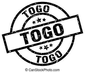 Togo black round grunge stamp