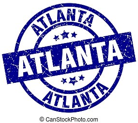 Atlanta blue round grunge stamp