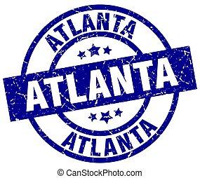 Atlanta blue round grunge stamp