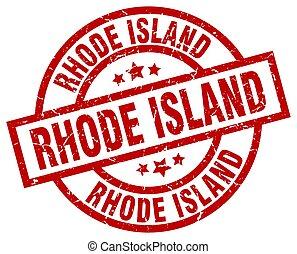 Rhode Island red round grunge stamp