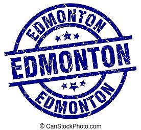 Edmonton blue round grunge stamp