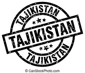 Tajikistan black round grunge stamp