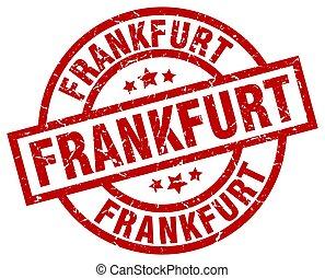 Frankfurt red round grunge stamp