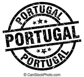 Portugal black round grunge stamp