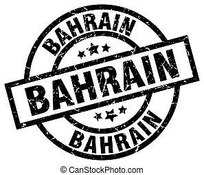 Bahrain black round grunge stamp