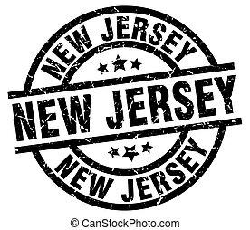 New Jersey black round grunge stamp