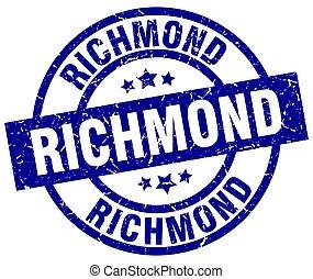 Richmond blue round grunge stamp