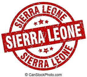 Sierra Leone red round grunge stamp