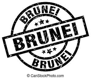 Brunei black round grunge stamp