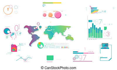 Colorful Corporate Infographic Elements With Alpha Channel -...