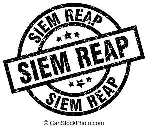 Siem Reap black round grunge stamp