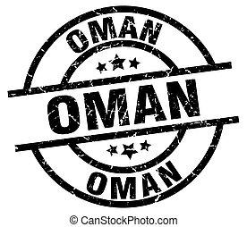 Oman black round grunge stamp