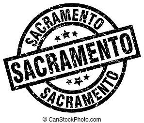 Sacramento black round grunge stamp
