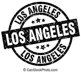 Los Angeles black round grunge stamp