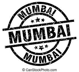 Mumbai black round grunge stamp