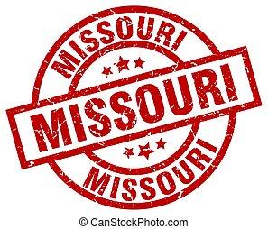 Missouri red round grunge stamp