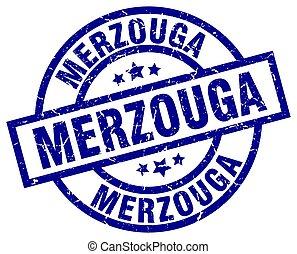 Merzouga blue round grunge stamp
