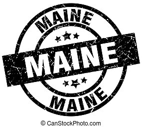 Maine black round grunge stamp