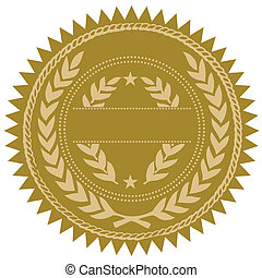 Vector Gold Seal - Detailed vector gold seal, easy to edit