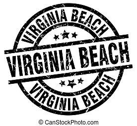 Virginia Beach black round grunge stamp