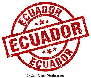 Ecuador red round grunge stamp