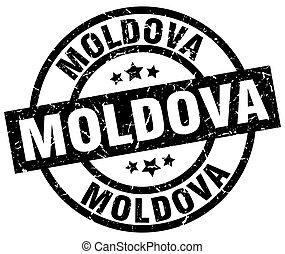 Moldova black round grunge stamp