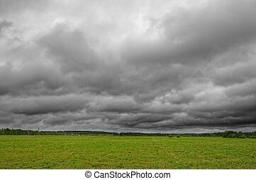 Spring cloudy landscape