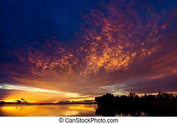 sky after sunset with strange clouds. - Beautiful sky after...