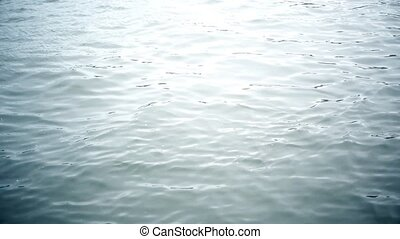Water ripples on river surface - Mysterious blue water...